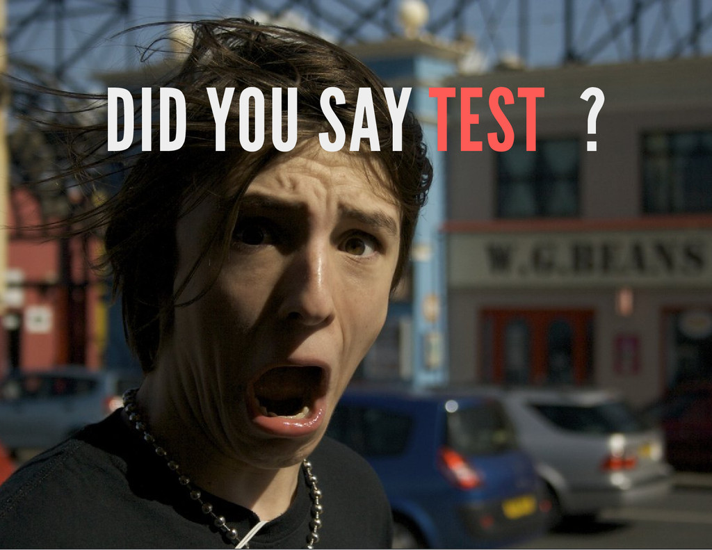 DID YOU SAY TEST ?