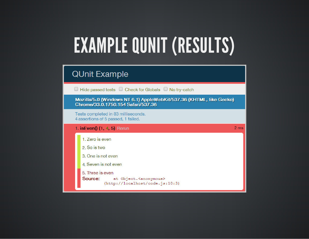 EXAMPLE QUNIT (RESULTS)
