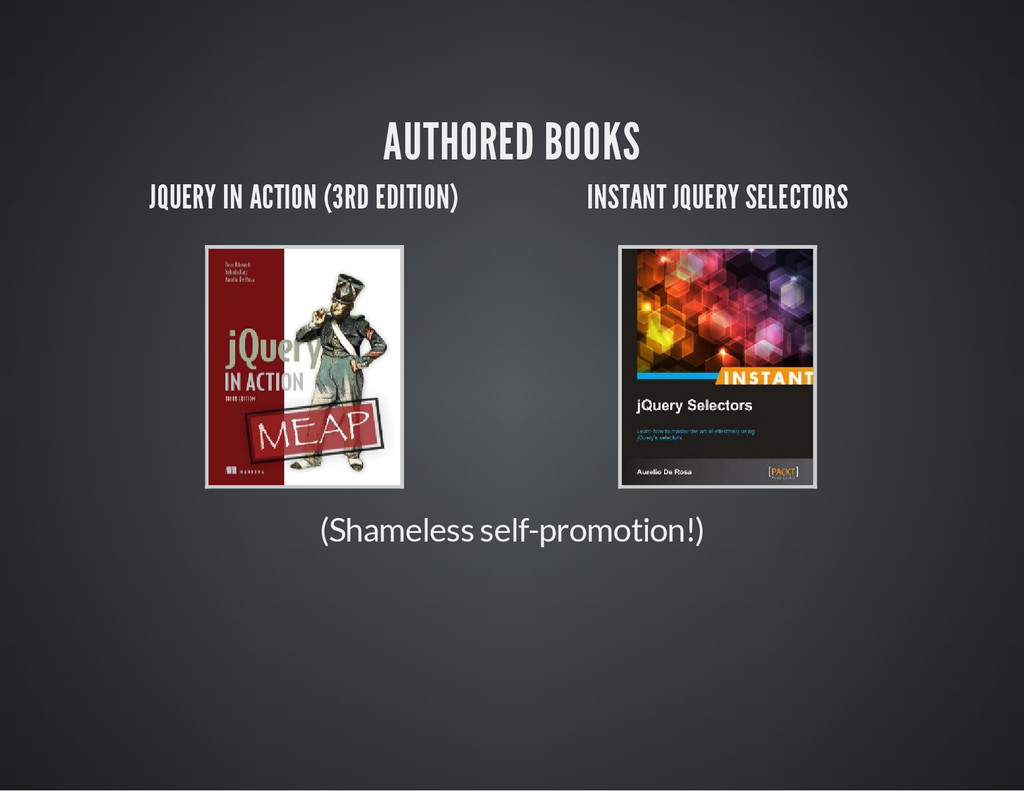 AUTHORED BOOKS JQUERY IN ACTION (3RD EDITION) I...