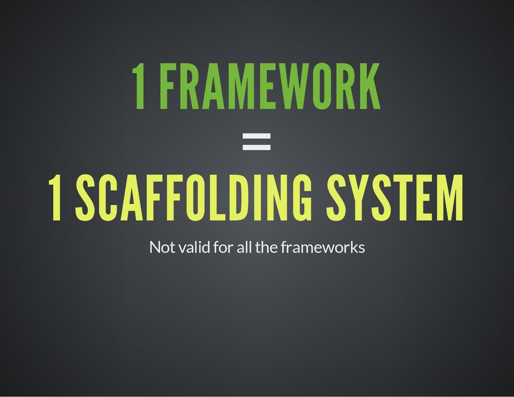 1 FRAMEWORK = 1 SCAFFOLDING SYSTEM Not valid fo...