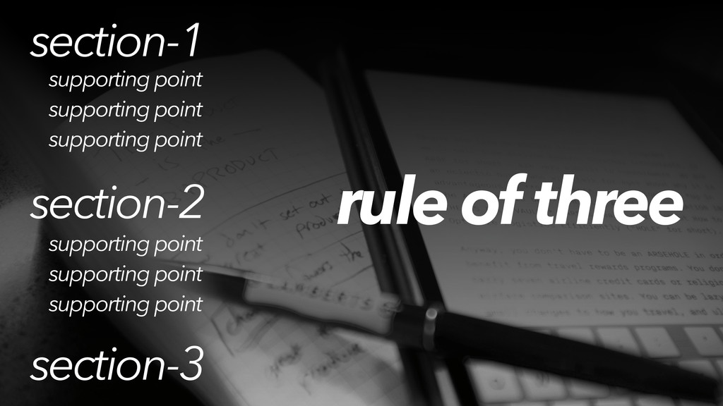 rule of three section-1 section-2 section-3 sup...