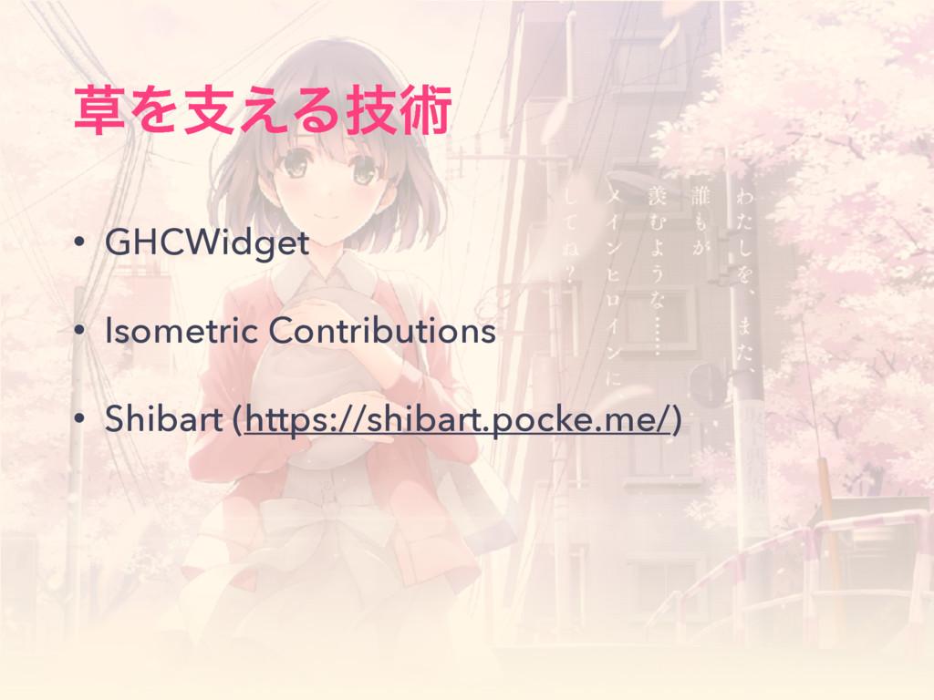 Λࢧ͑Δٕज़ • GHCWidget • Isometric Contributions •...