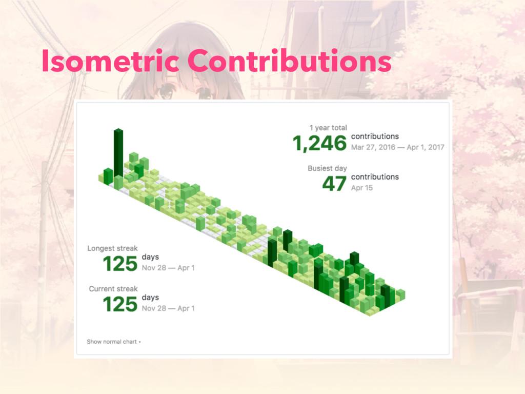Isometric Contributions