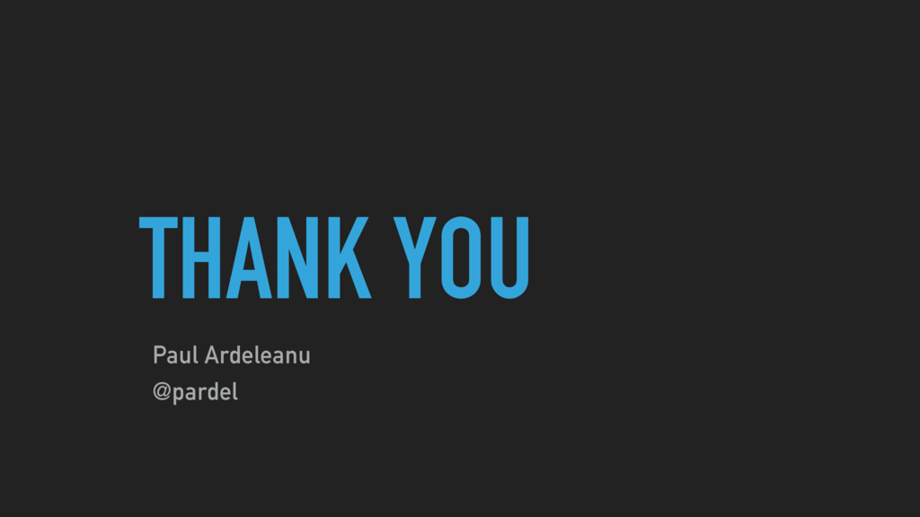 THANK YOU Paul Ardeleanu @pardel