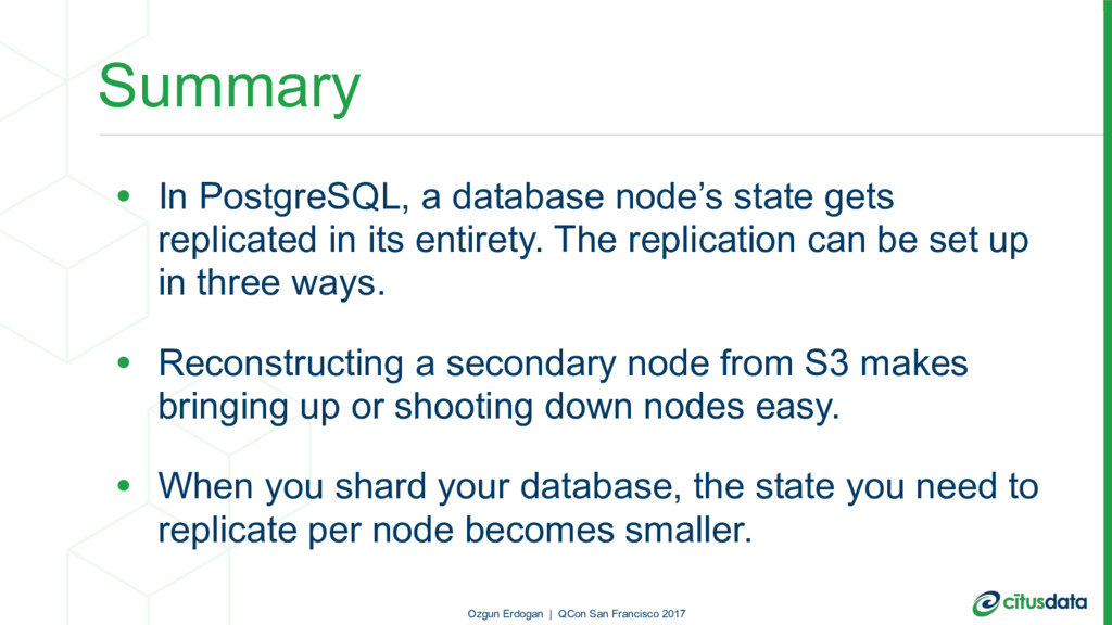 Summary • In PostgreSQL, a database node's stat...