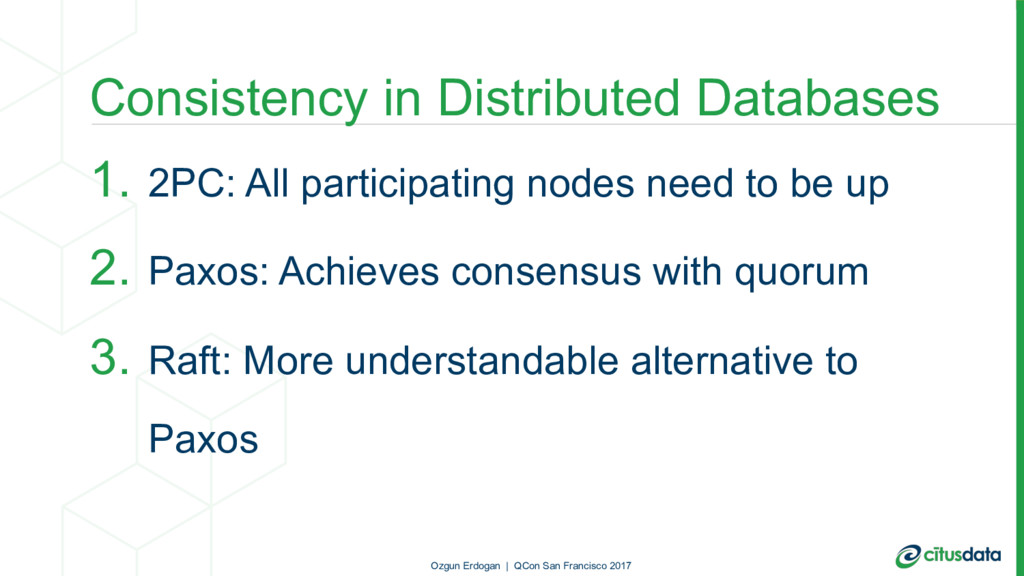 Consistency in Distributed Databases 1. 2PC: Al...