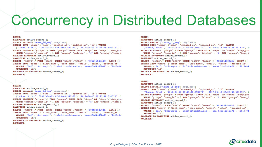 Concurrency in Distributed Databases Ozgun Erdo...