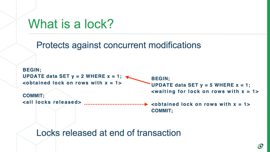 Transactions Block on 1st Conflicting Lock