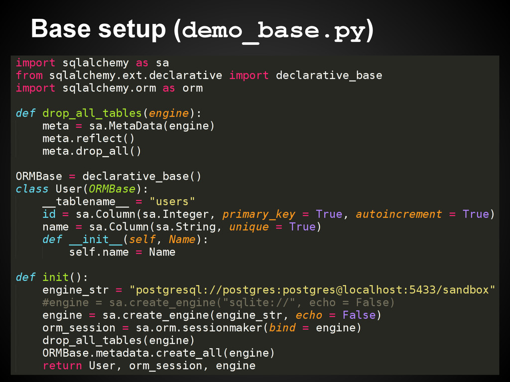 Base setup (demo_base.py)