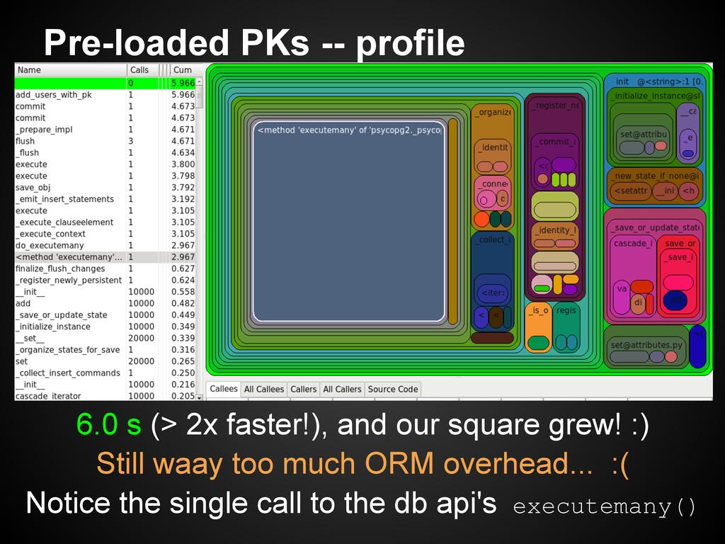 Pre-loaded PKs -- profile 6.0 s (> 2x faster!),...