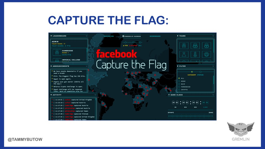 CAPTURE THE FLAG: @TAMMYBUTOW