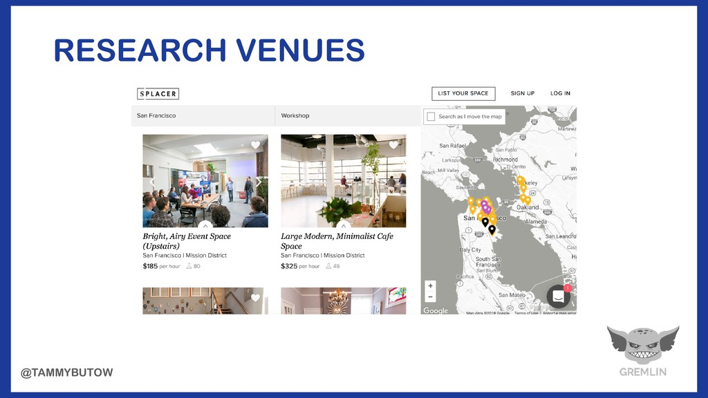RESEARCH VENUES @TAMMYBUTOW