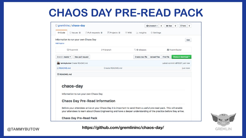 CHAOS DAY PRE-READ PACK https://github.com/grem...
