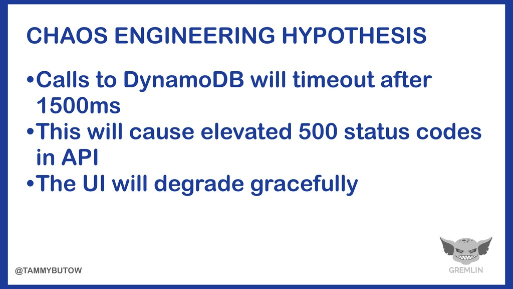 • Calls to DynamoDB will timeout after 1500ms •...