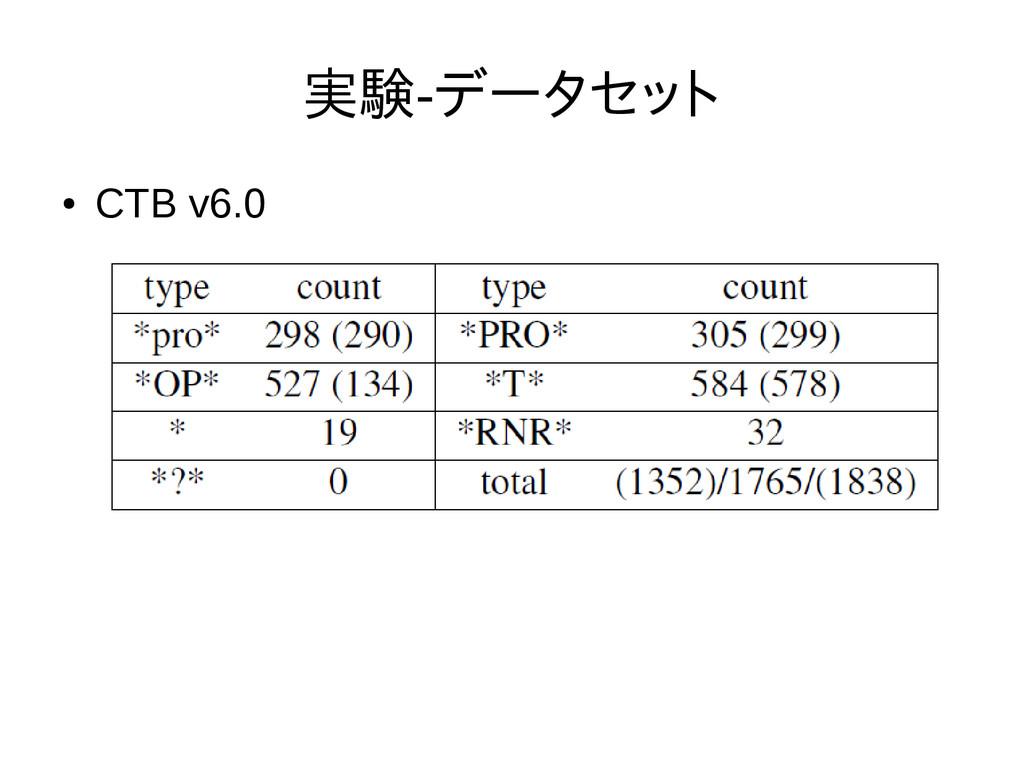 実験-データセット ● CTB v6.0