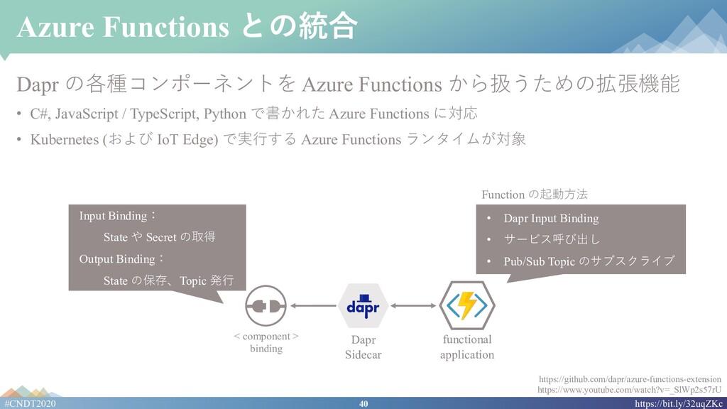 40 #CNDT2020 https://bit.ly/32uqZKc Azure Funct...