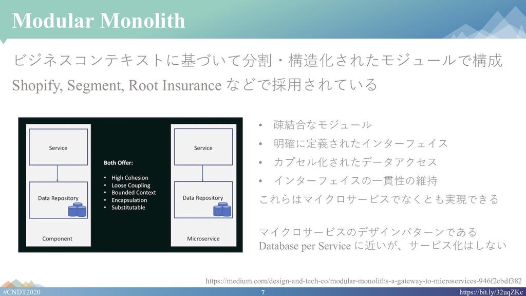 7 #CNDT2020 https://bit.ly/32uqZKc Modular Mono...