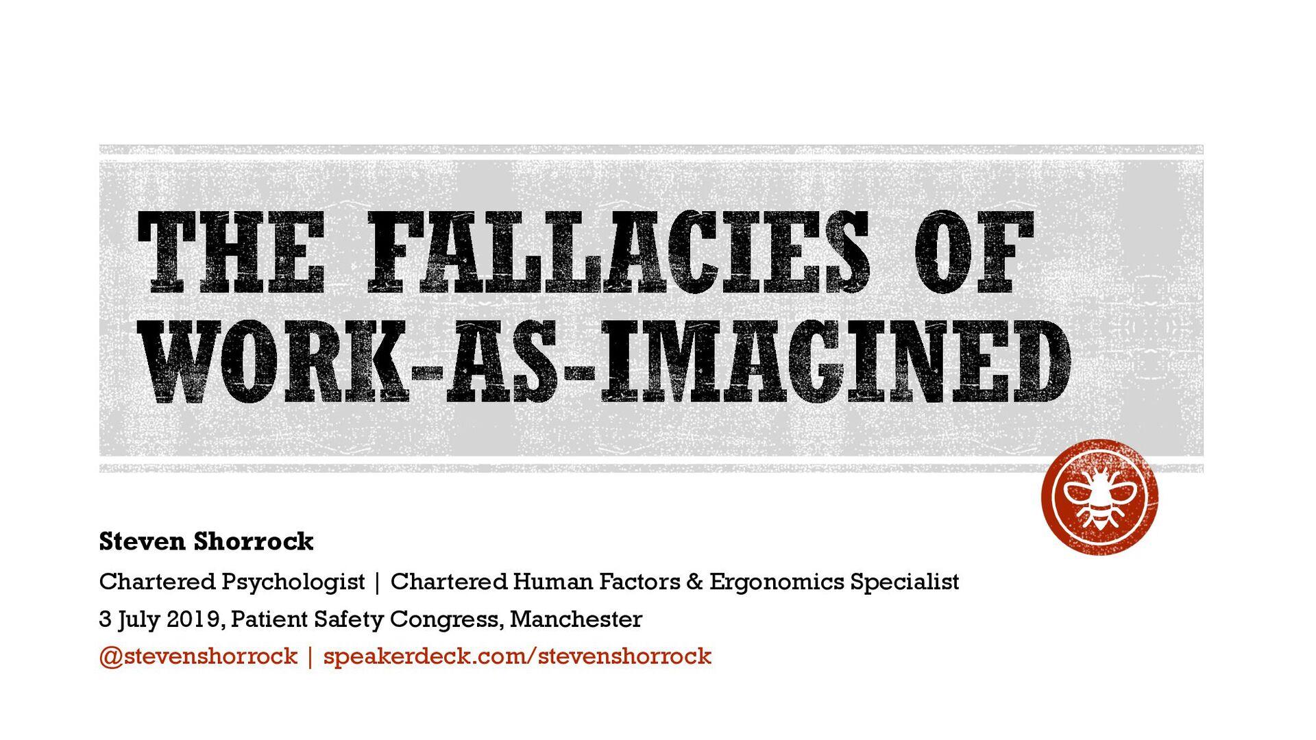 Steven Shorrock Chartered Psychologist | Charte...