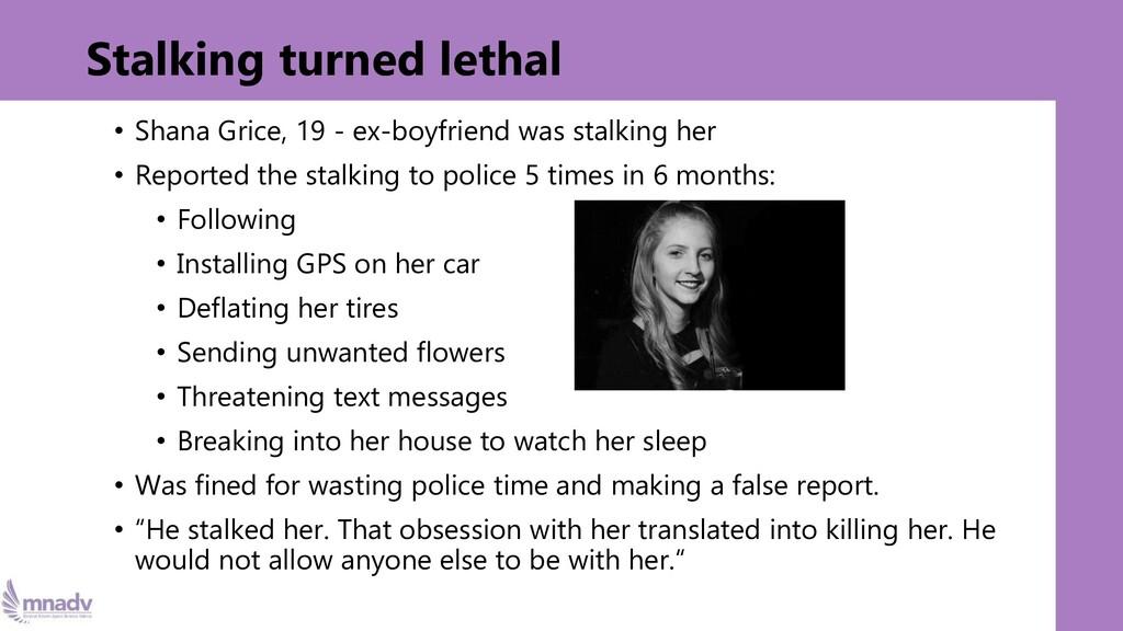 Stalking turned lethal • Shana Grice, 19 - ex-b...