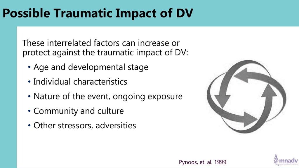 Possible Traumatic Impact of DV These interrela...