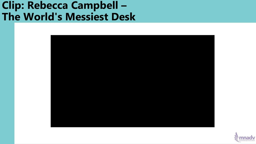 Clip: Rebecca Campbell – The World's Messiest D...