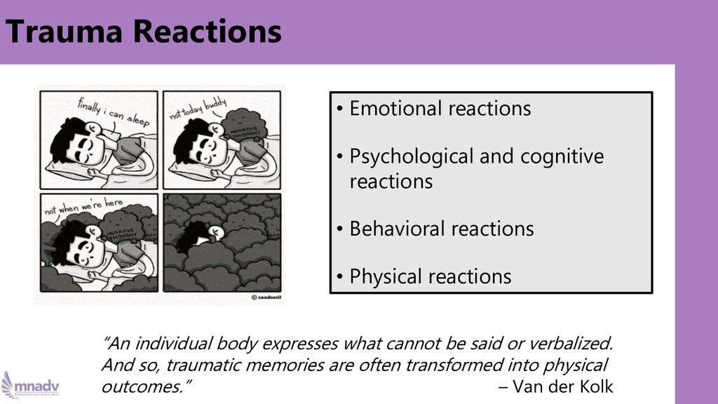 Trauma Reactions • Emotional reactions • Psycho...
