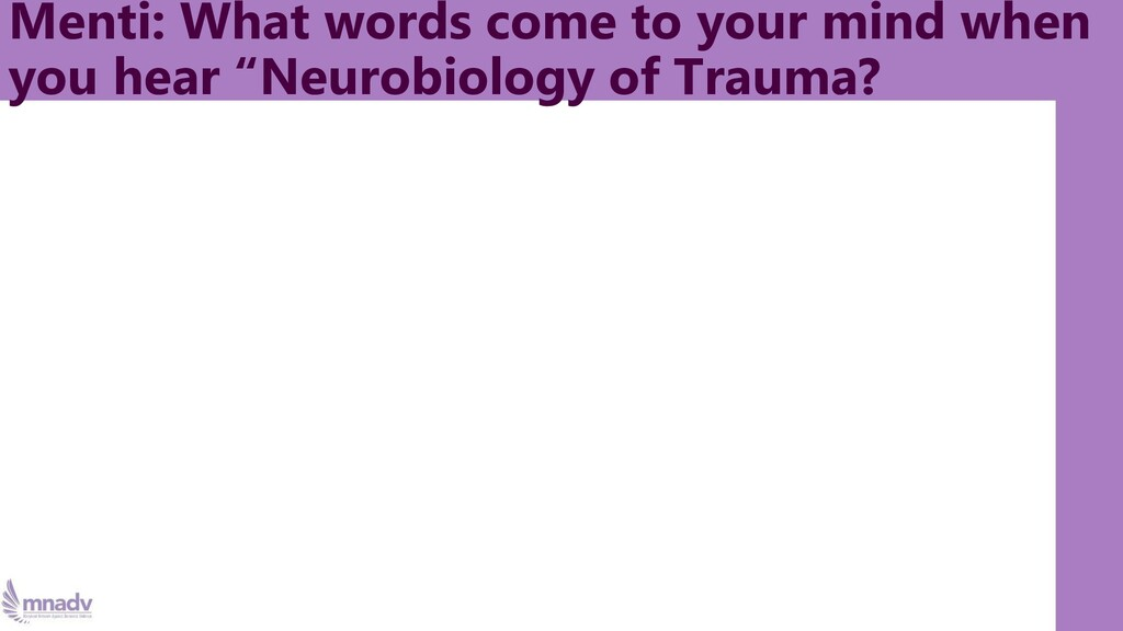 Menti: What words come to your mind when you he...