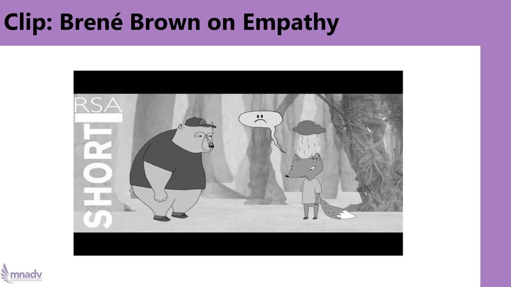 Clip: Brené Brown on Empathy