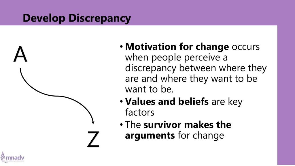 Develop Discrepancy • Motivation for change occ...