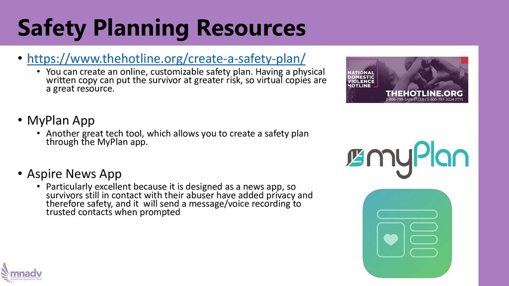 Safety Planning Resources • https://www.thehotl...