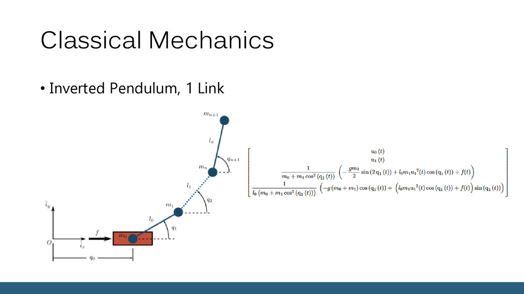 Classical Mechanics • Inverted Pendulum, 1 Link