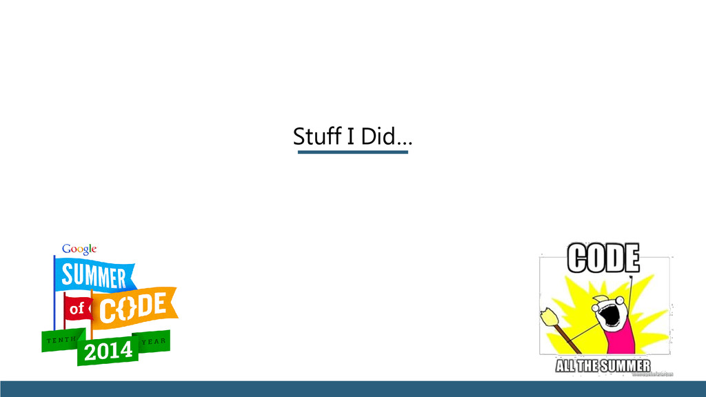 Stuff I Did…