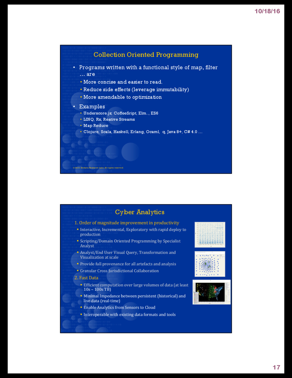 10/18/16 17 Collection Oriented Programming • P...
