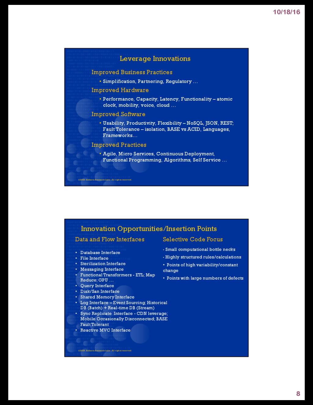 10/18/16 8 Leverage Innovations Improved Busine...