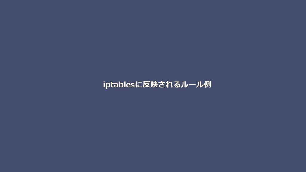 iptablesに反映されるルール例