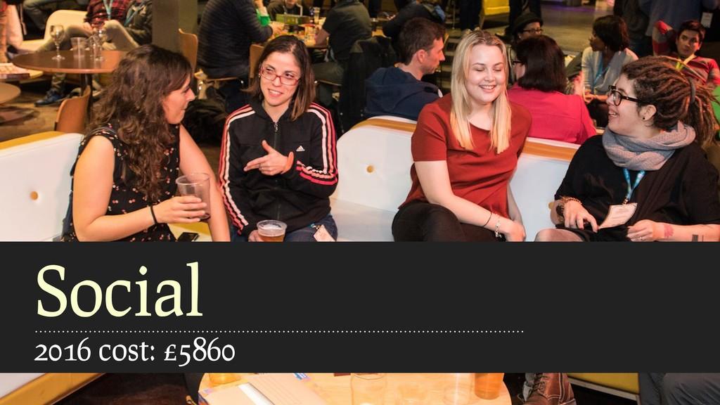 Social 2016 cost: £5860