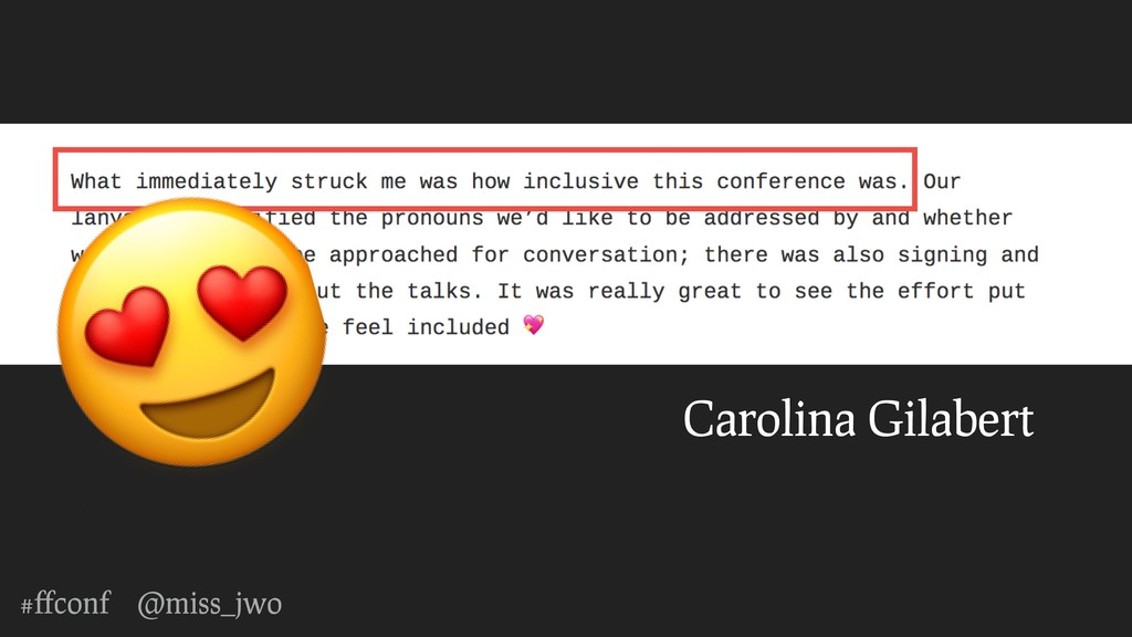 #ffconf @miss_jwo Carolina Gilabert