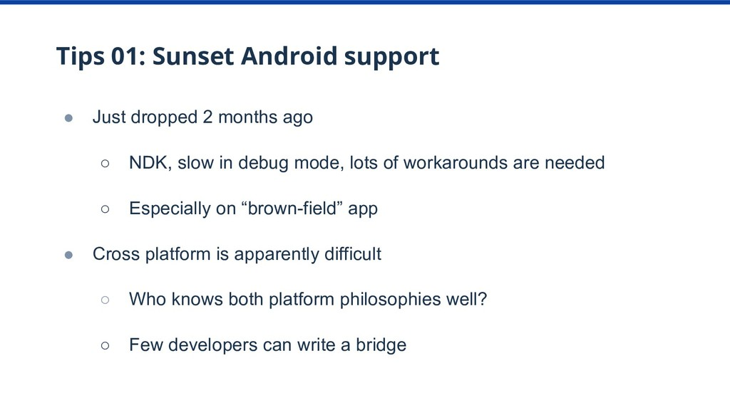Tips 01: Sunset Android support ● Just dropped ...