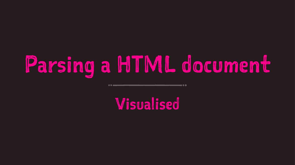 Parsing a HTML document Visualised
