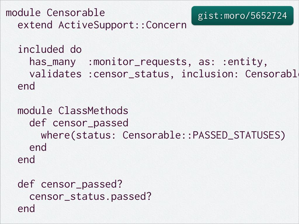gist:moro/5652724 module Censorable extend Acti...