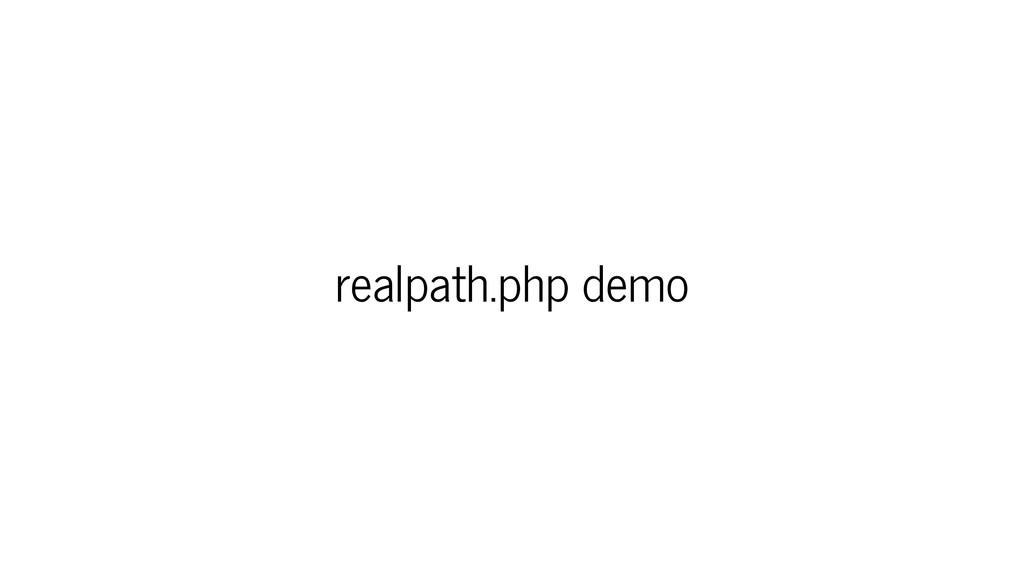 realpath.php demo