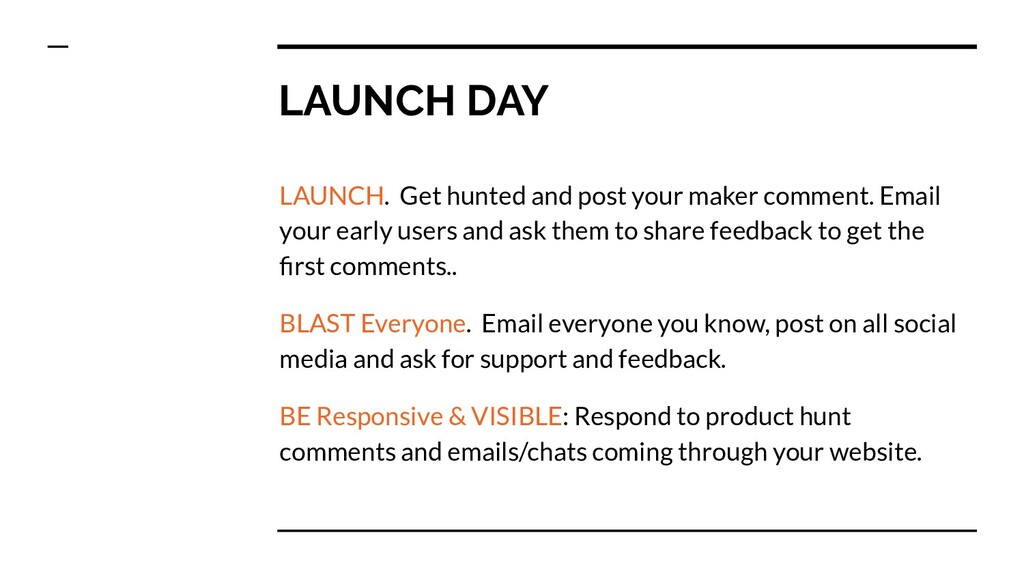 LAUNCH DAY LAUNCH. Get hunted and post your mak...