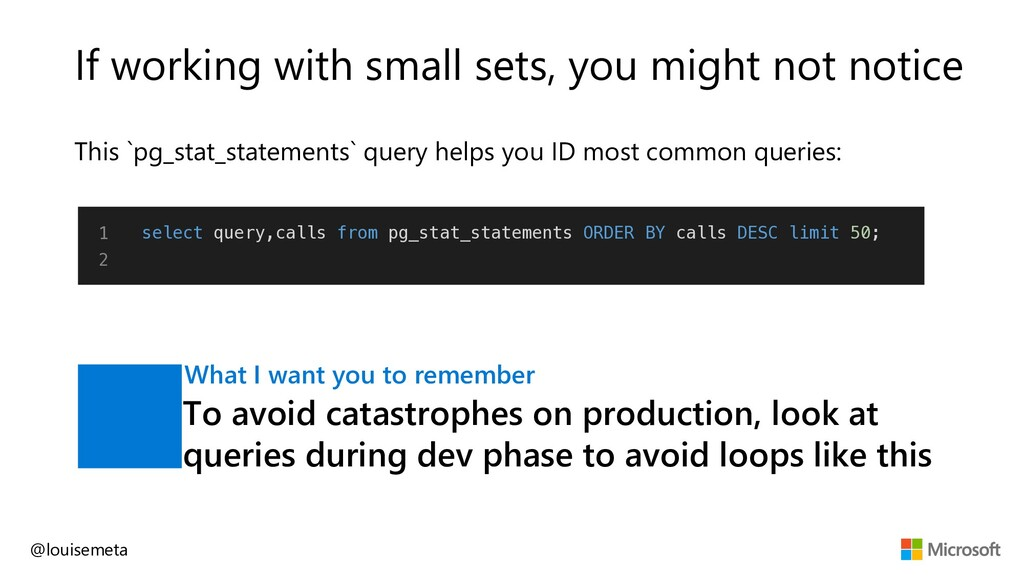 If working with small sets, you might not notic...