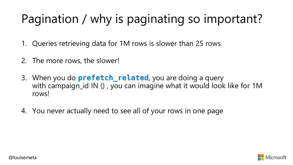 Pagination / why is paginating so important? 1....