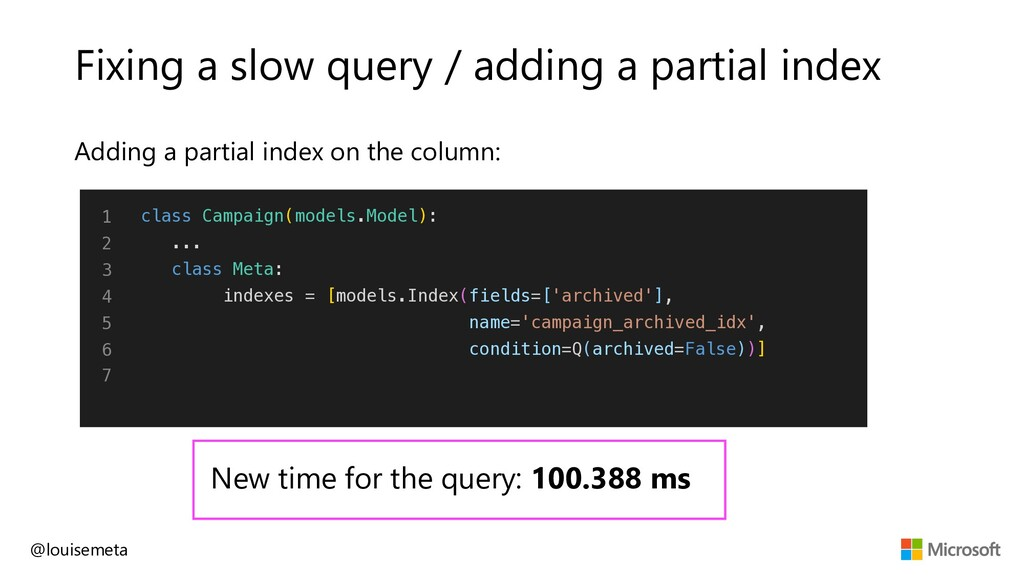 Fixing a slow query / adding a partial index Ad...