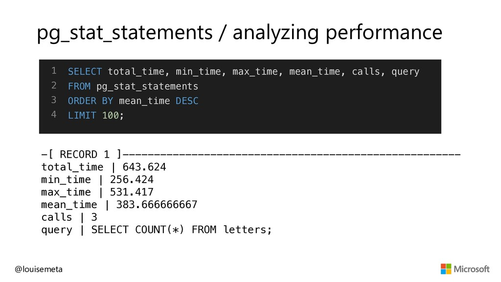 pg_stat_statements / analyzing performance -[ R...