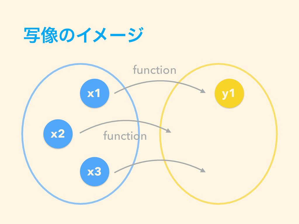 ࣸ૾ͷΠϝʔδ x1 x2 x3 y1 function function