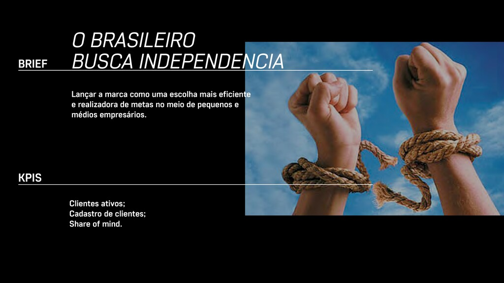 BRIEF O BRASILEIRO BUSCA INDEPENDENCIA Lançar a...