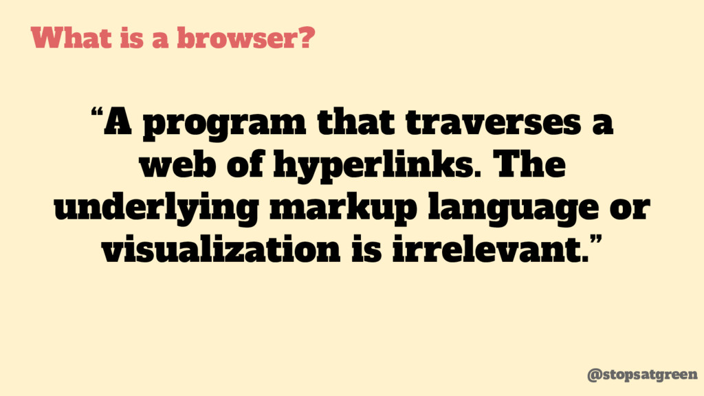 """A program that traverses a web of hyperlinks. ..."