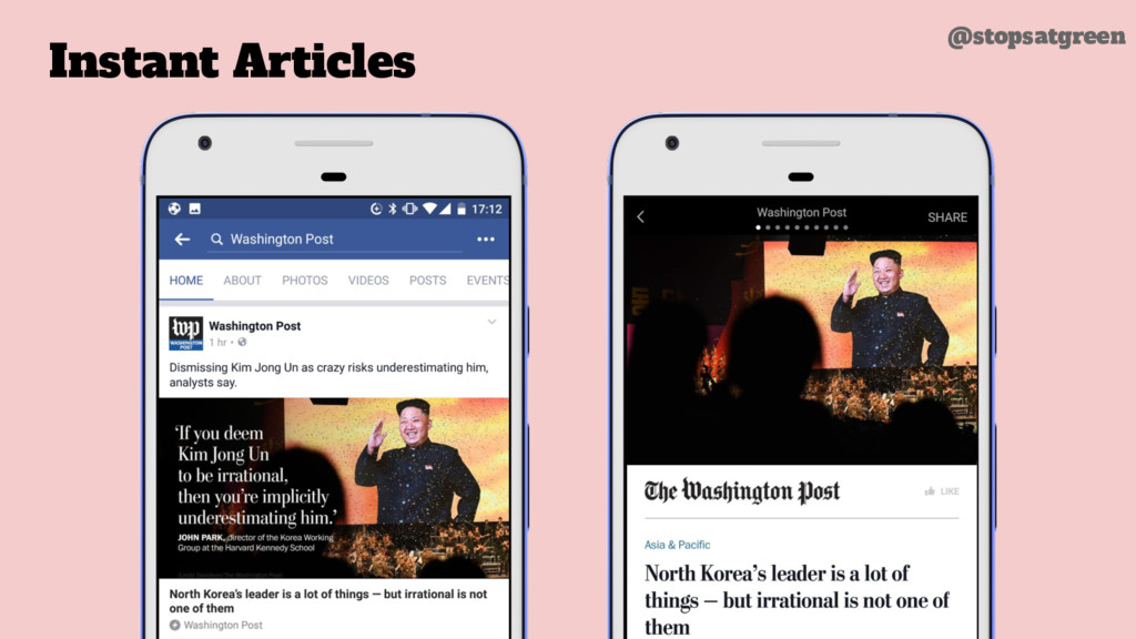 Instant Articles @stopsatgreen